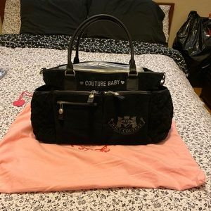 SALE❗️New Authentic Juicy Couture Black Diaper Bag